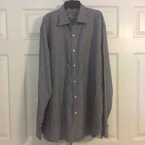 Banana Republic Blue stripped dress shirt